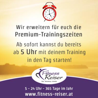 Premium-Trainingszeiten