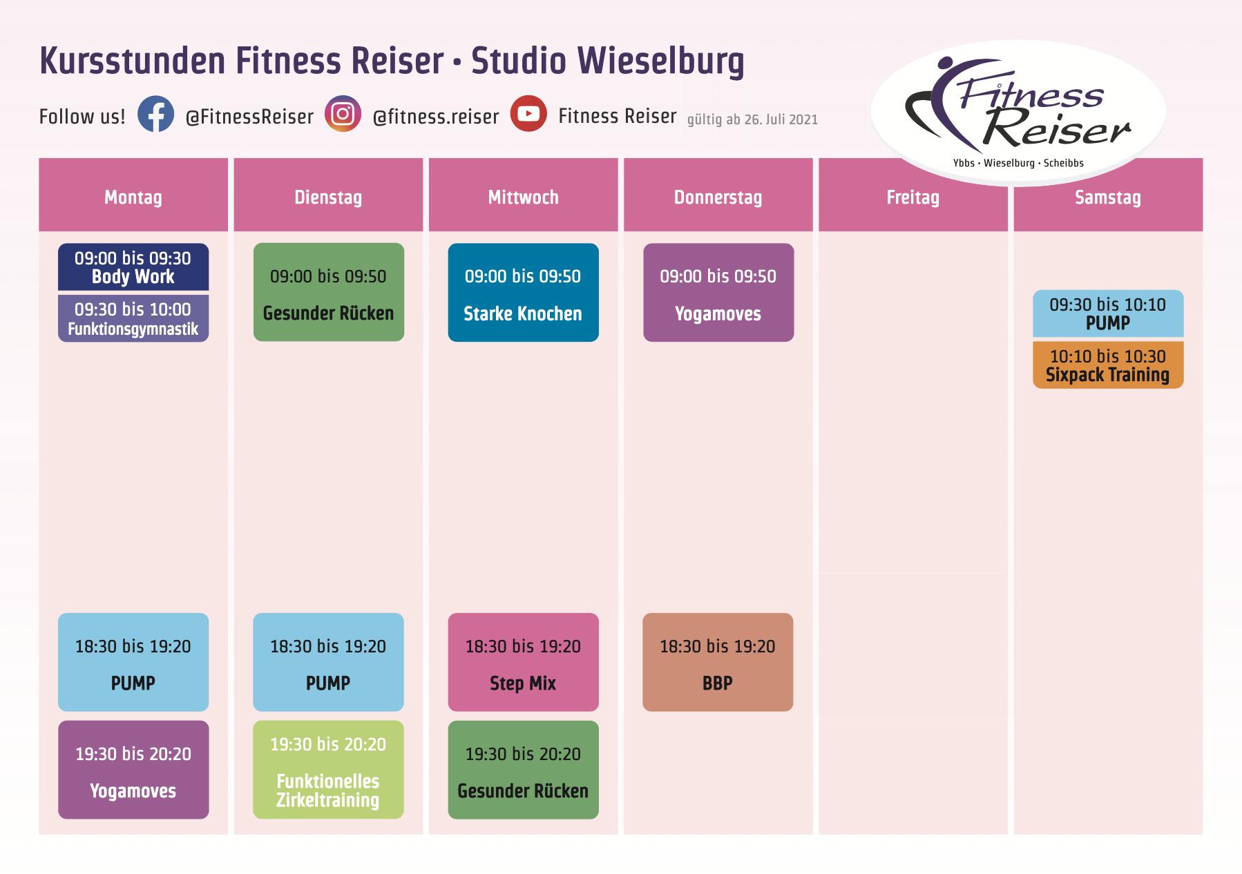 Kursplan 2021-07-26 - Fitness Reiser