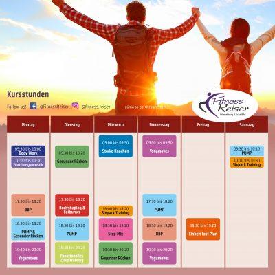 Fitness Reiser - Kursplan Herbst 2018